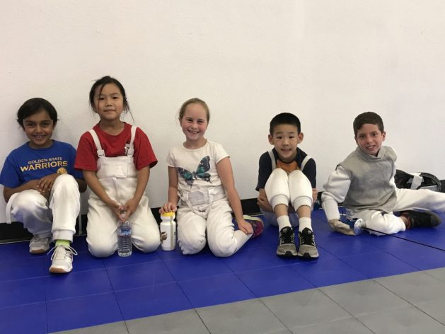 The youngest fencers at the AFM Hurricane Relief Tournament