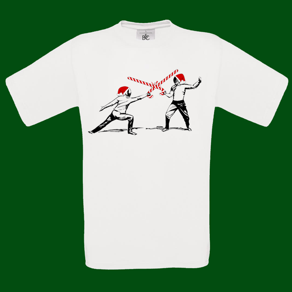 Christmas fencings t-shirt