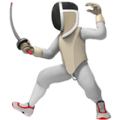 Fencing emoji - Apple