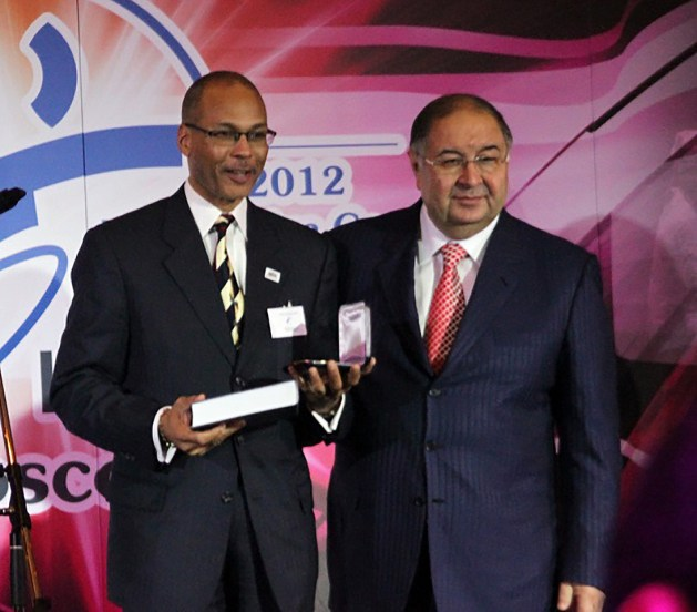 Donald Anthony, Jr, President of USA Fencing and Alisher Usmanov, President of FIE