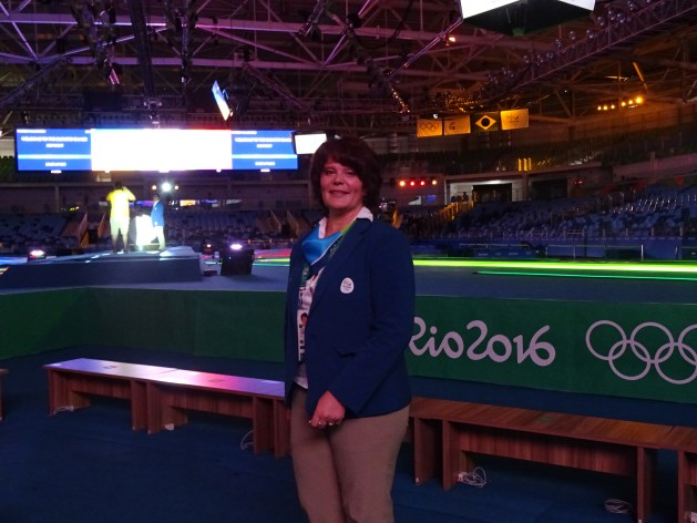 Natalia Zhuravleva refereeing at Olympic Games in Rio 2016