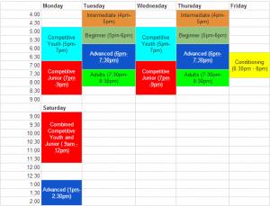 AFM 2014-2015 fencing classes  schedule