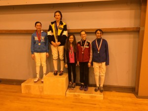 Catherine Lange medaled at Northern California RYC in Y12 Women's Foil