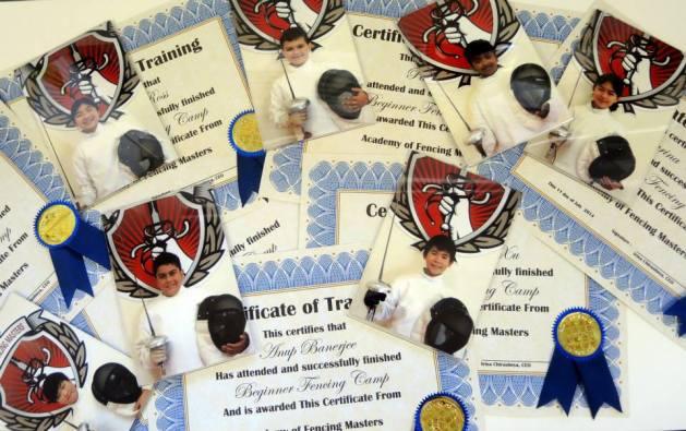 Beginner Fencing Camp Graduation