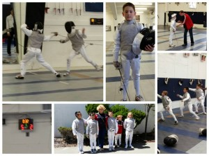 Fencing Collage of Andrew Lorenz Fencing - Fencing at Y10 Men's Foil Bay Cup Tournament in August 31 2014