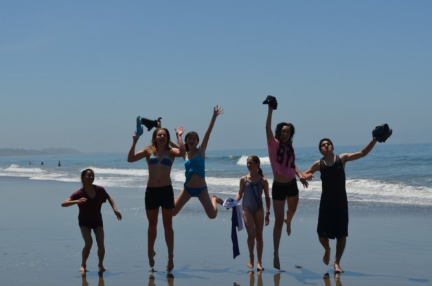 Fencing is fun - AFM fencers at ocean beach during Summer Nationals Preparations Camp training