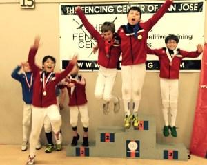Bay Area Regional Youth Circuit (RYC) - Region 4 - Y10 Men's Epee: AFM fencers swept the podium