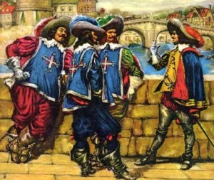 The Three Musketeers - one of the most famous fencing movies in many cultures
