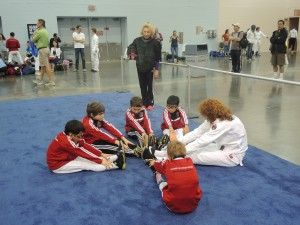 Warm up before fencing Summer nationals