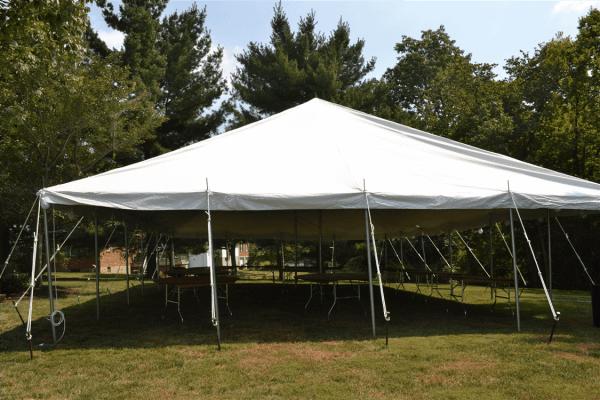 30x30 Pole Tent Rental