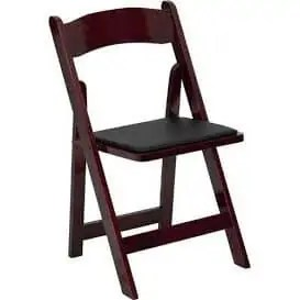 Padded Garden Chair Rental - Mahogany