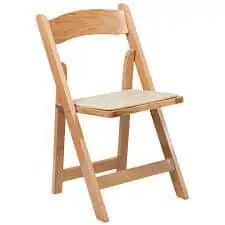 Padded Garden Chair Rental - Natural Oak