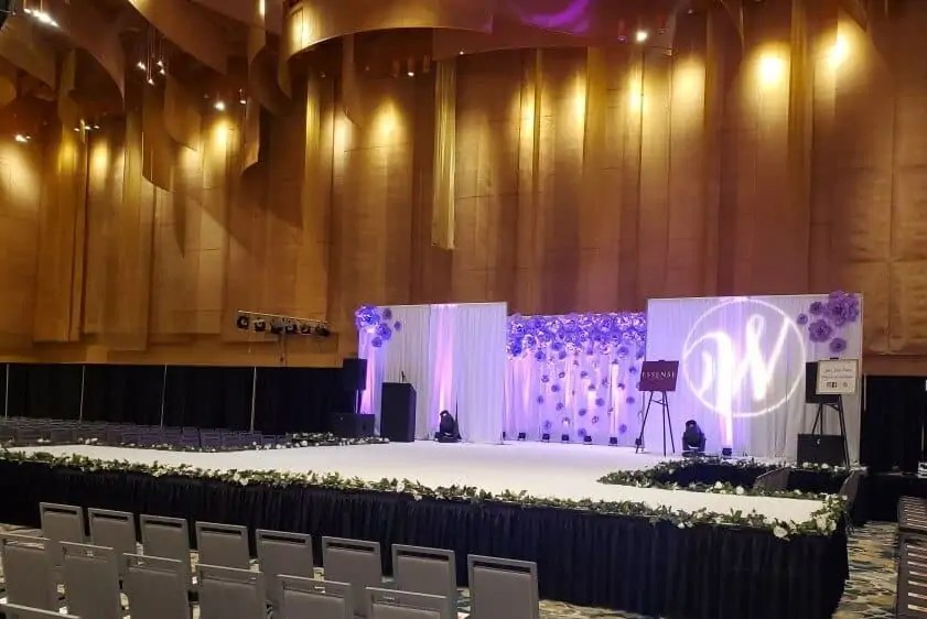 Wedding Stage Backdrop Rental Cincinnati