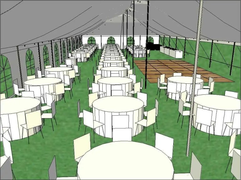 Customer Wedding Tent Layout Cincinnati