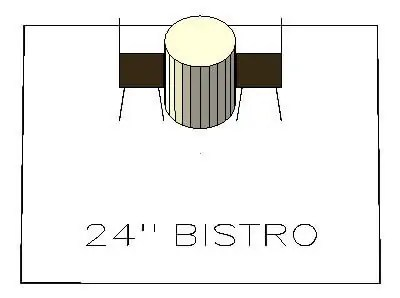 How many chairs fit around a 24 inch bistro table