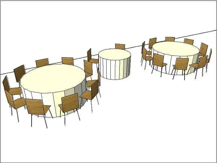 Large Round Tables and Sweetheart Table