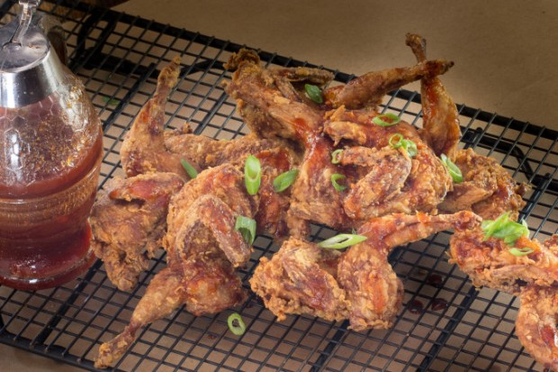 Cajun Recipes with Fried Quail Sauce Green Onions
