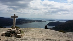 From the peak of Acadia Mountain, hikers can see Somes Sound and the Cranberry Islands.