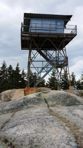 The only fire tower in Acadia is atop Beech Mountain.