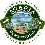 Centennial logo for Acadia National Park
