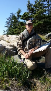Artist Robert Dorlac at Acadia National Park