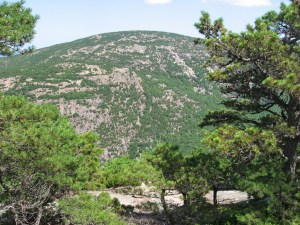 Huguenot Head as seen from Schiff Path in Acadia National Park