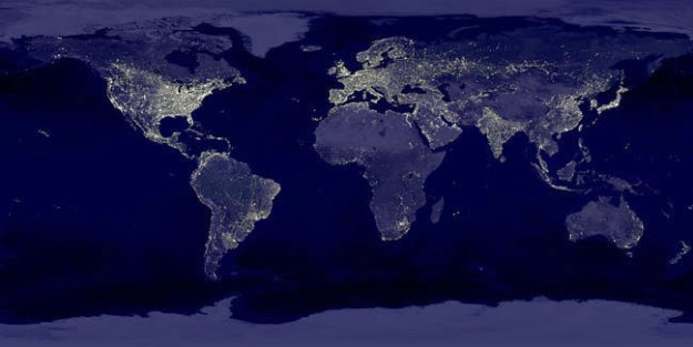 NASA photo shows global light pollution