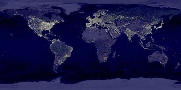 NASA photo shows global light pollution