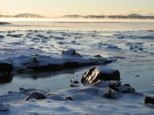sea smoke in acadia national park