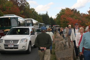 crowds in acadia