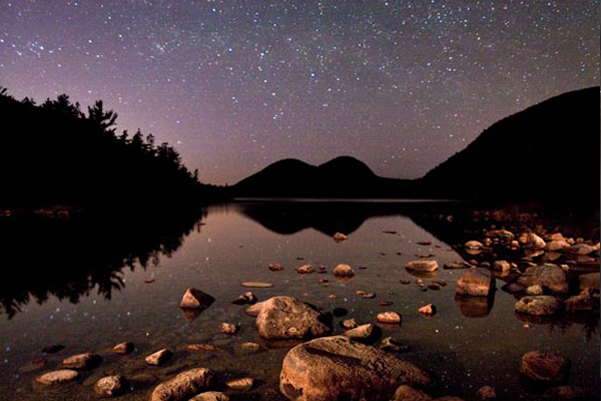 Stars over Jordan Pond