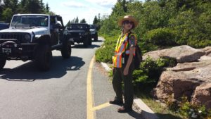 Amanda Dilley, visitor service assistant at Acadia National Park