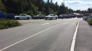 Traffic congestion on Cadillac Mountain