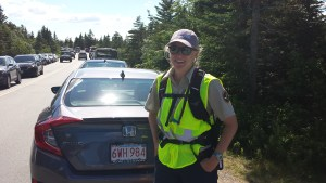 Stephanie Ley, coordinator of the Summit Stewards at Acadia National Park