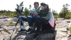 Jim and Kathy Zeman, volunteers at Hawk Watch in Acadia National Park