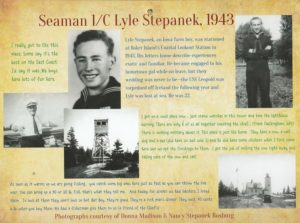 Lyle Stepanek, a member of the Coast Guard, was stationed on Baker Island during World War II.