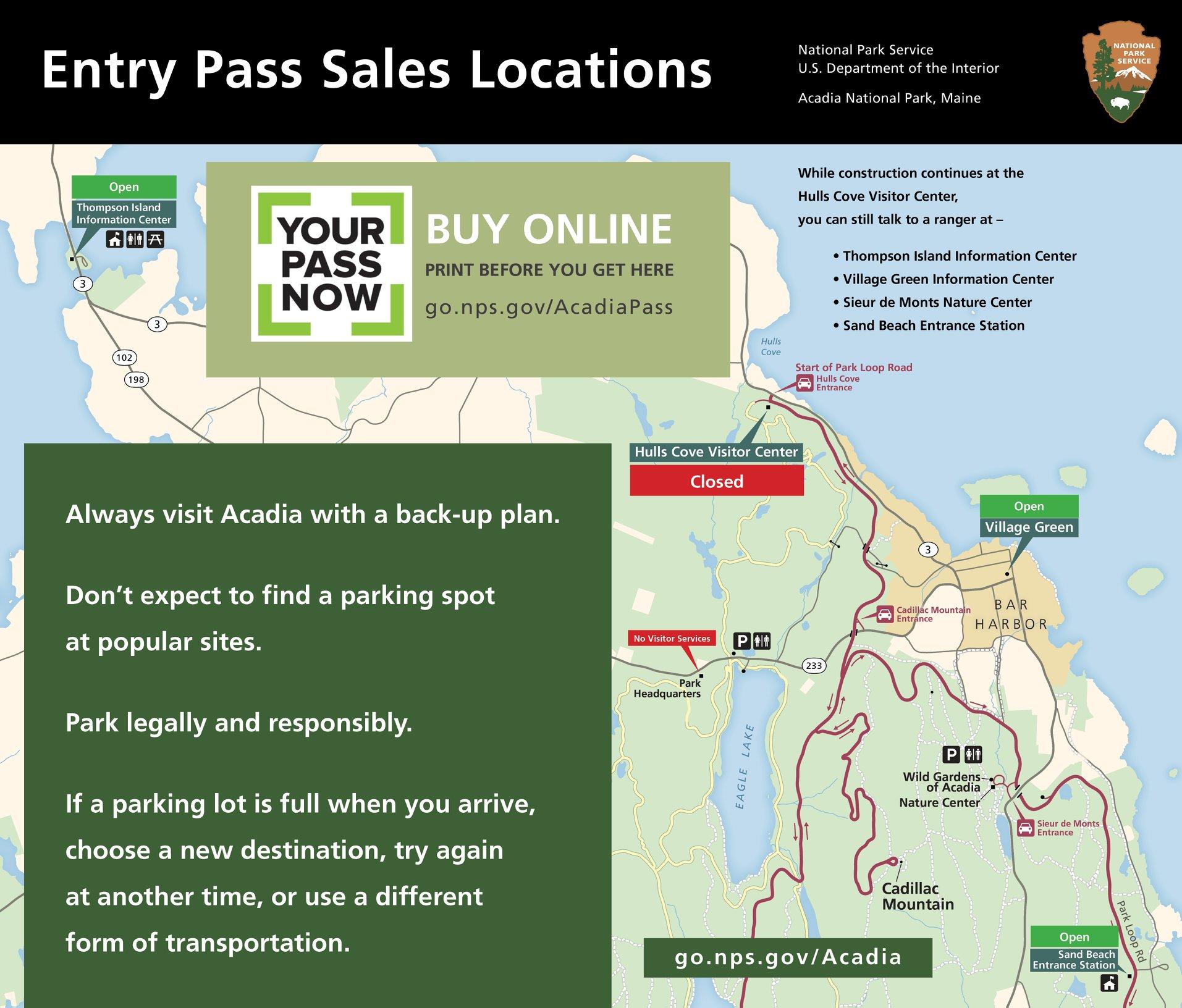 Acadia National Park visitors face roadblocks to buying pass