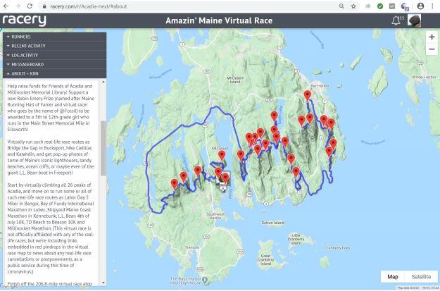 acadia virtual race