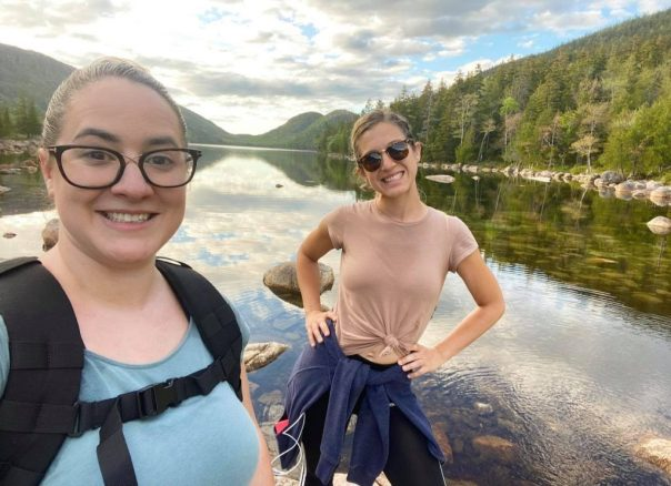 Allie Wityak and Lacey Norton at Acadia National Park