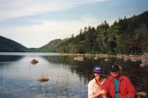 Deni and Kevin Farr at Acadia National Park in 1993