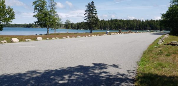Parking at Thompson Island Picnic Area