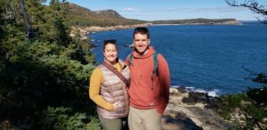 Lisa Strobel-Jones and Christopher Jones at Acadia National Park