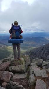 Kathy Dixon-Wallace on Mt. Katahdin