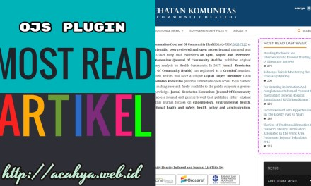 Menampilkan Sidebar Most Read Article OJS 3