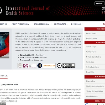 International Journal of Health Sciences (IJHS)