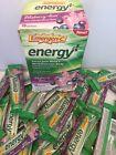 107 Emergen-C Energy Plus Fizzy Drink Mix Blueberry Acai EXP 06/20 openbox