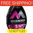 12 Bottles MIO energy ACAI BERRY STORM liquid Water Enhancer. 1.62 Oz Per Bottle