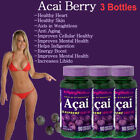 Triple Strength ACAI BERRY 3000mg Cholesterol Antioxidant Herbal Pill 3 bottles