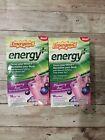 2x Emergen-C Energy Plus Fizzy Drink Mix Blueberry Acai Flavor 36 packets 3/20+