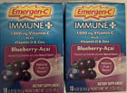 Emergen C Blueberry Acai Immune+ with 1000mg Vitamin C, 10 Pack Box (2 Boxes)